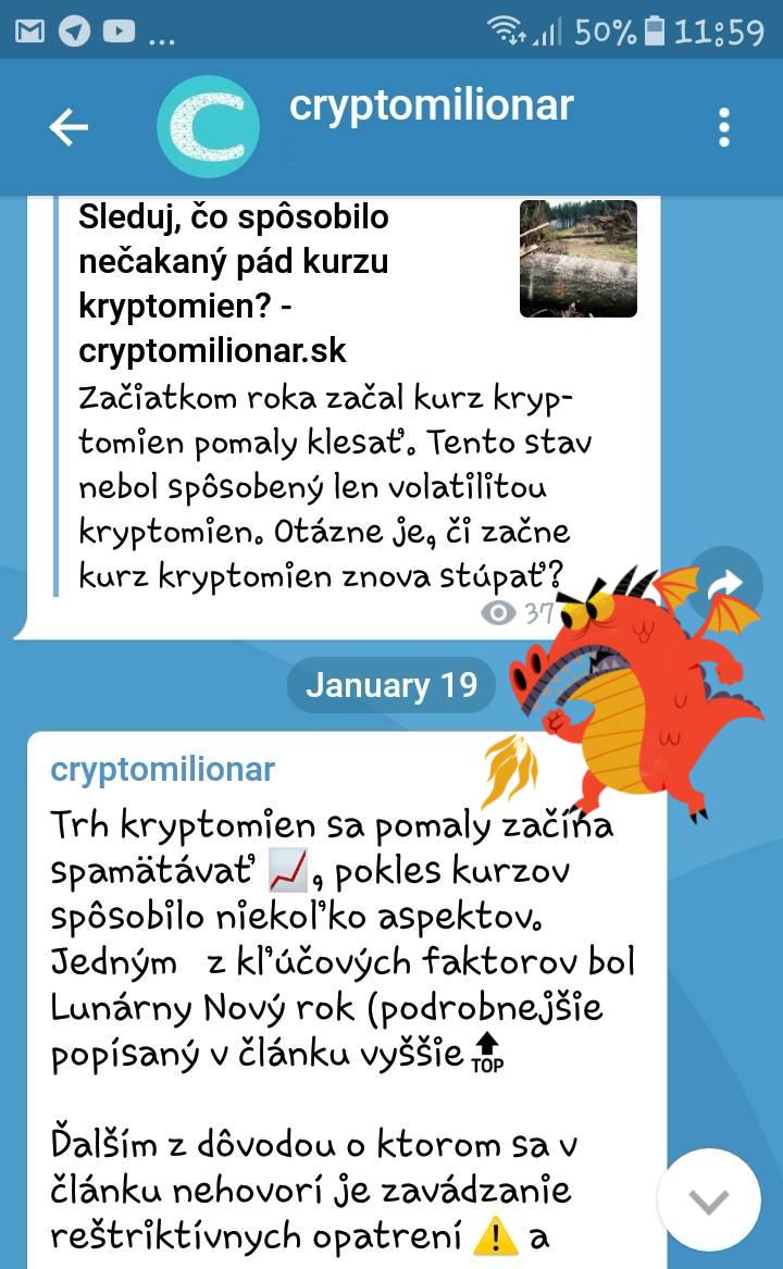 cryptomilionar telegram kanál